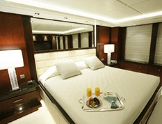 A yacht's cabin representing the Interior department